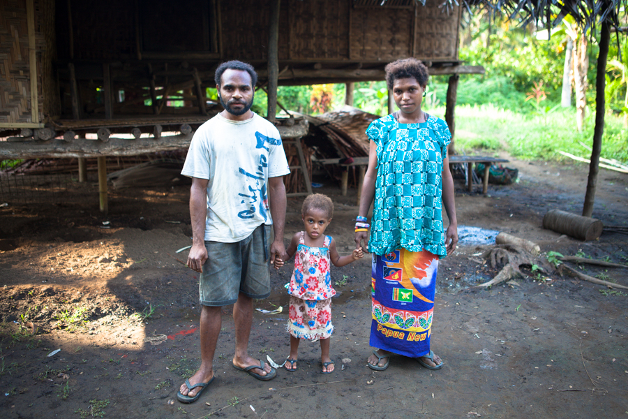 Papua New Guinea, Village, Family