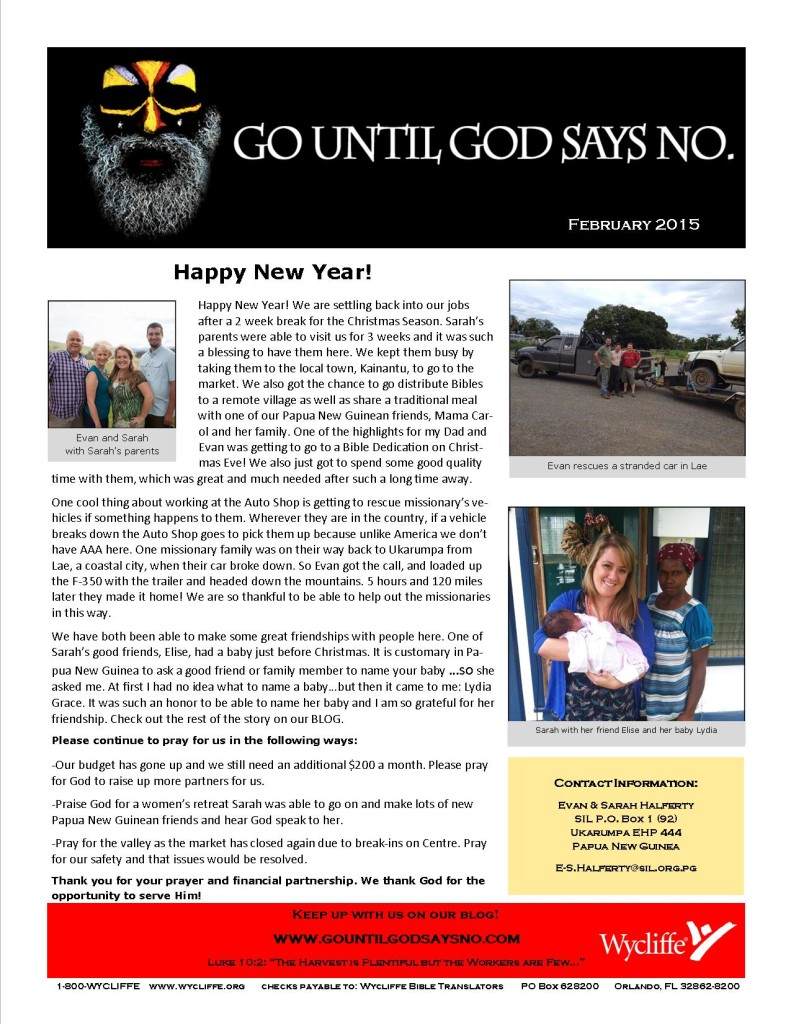 NewsletterFebruary2015